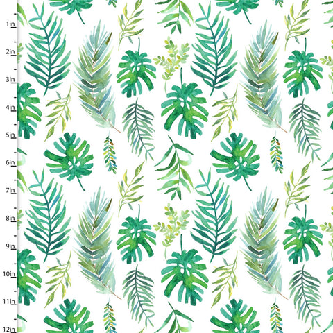 3 Wishes Tropicale Digital White Palm Leaves
