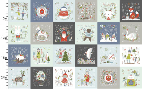 Fabric Editions Happy Holidays Patchwork Multi 60cm