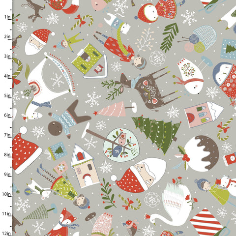 Fabric Editions Happy Holidays Christmas Things