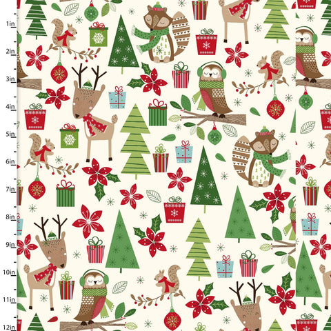 Fabric Editions Merry Woods Woodland Friends