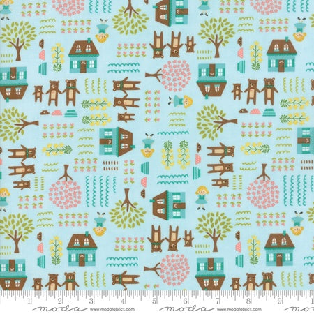 Moda Home Sweet Home Stacy Iest Hsu Main in Aqua