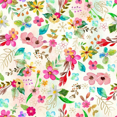 {New Arrival}  3 Wishes Grade Digital Floral Print