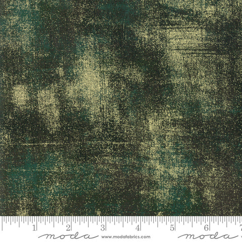 Moda Grunge Metallic Christmas Green