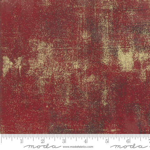 Moda Grunge Metallic Red Berry