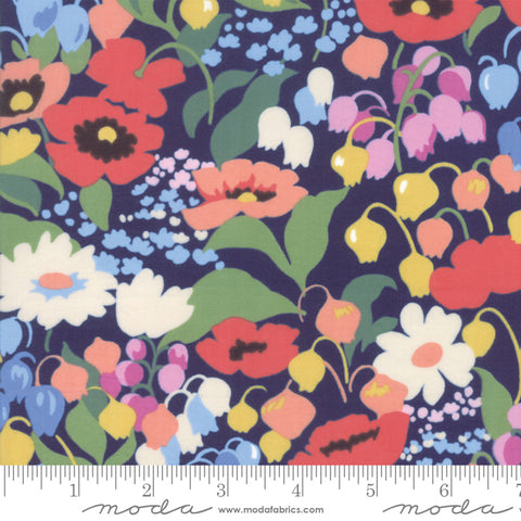 Moda Regent Street Cotton Lawns 2019 English Garden Floral Navy