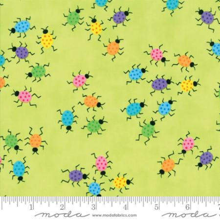 Moda Frolic Dancing Bugs Light Green