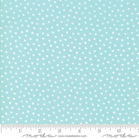Moda Stacy Iest Hsu Snow Day Snow Dots Aqua