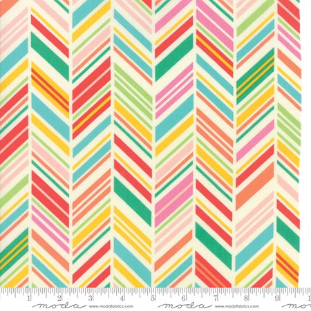 Moda Painted Garden Herringbone Multi