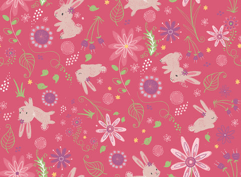 Bambini Brights Bunnies in Pink