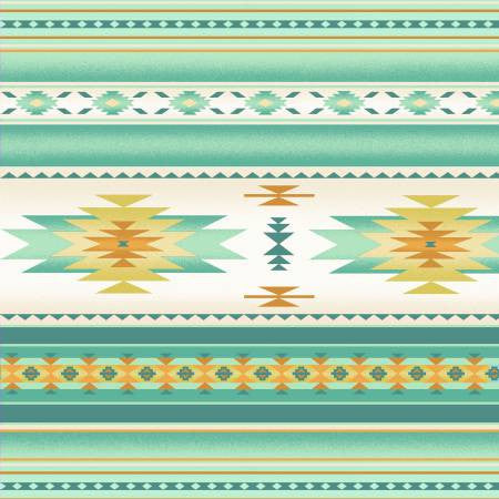 Elizabeths Studio Tucson Collection Mint Stripe