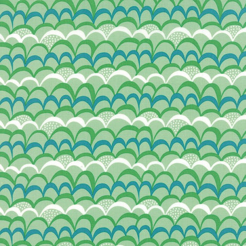Moda Coral Queen of the Sea Ripples Green