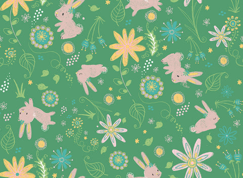 Bambini Brights Bunnies in Green
