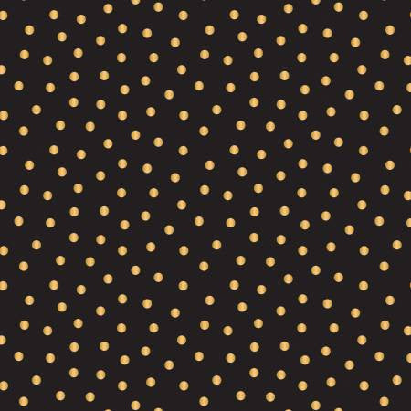 Camelot Mixology Luxe Black & Gold Metallic Dotted