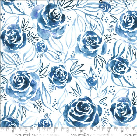 {New Arrival} Moda Moody Bloom Rosette Digital Indigo