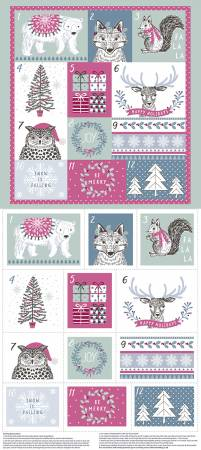 {New Arrival} The Craft Cotton Co Woodland Christmas Advent Panel