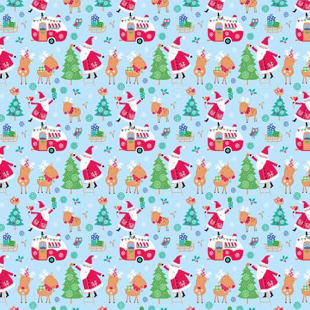{New Arrival} The Craft Cotton Co Santa & Reindeer Santa & Reindeer Aqua