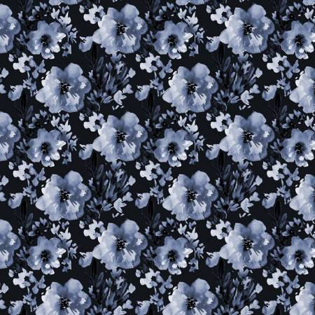 Camelot Indigo Rose Indigo Blossom Digitally Printed