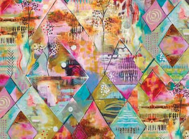 Flora Bowley Collection Digital Printed Multi Triangles