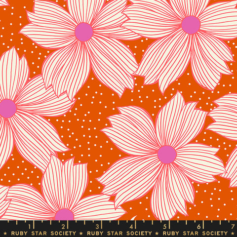 {Pre-Order August} Moda Ruby Star Society Sarah Watts Crescent Floral Night Bloom Orange