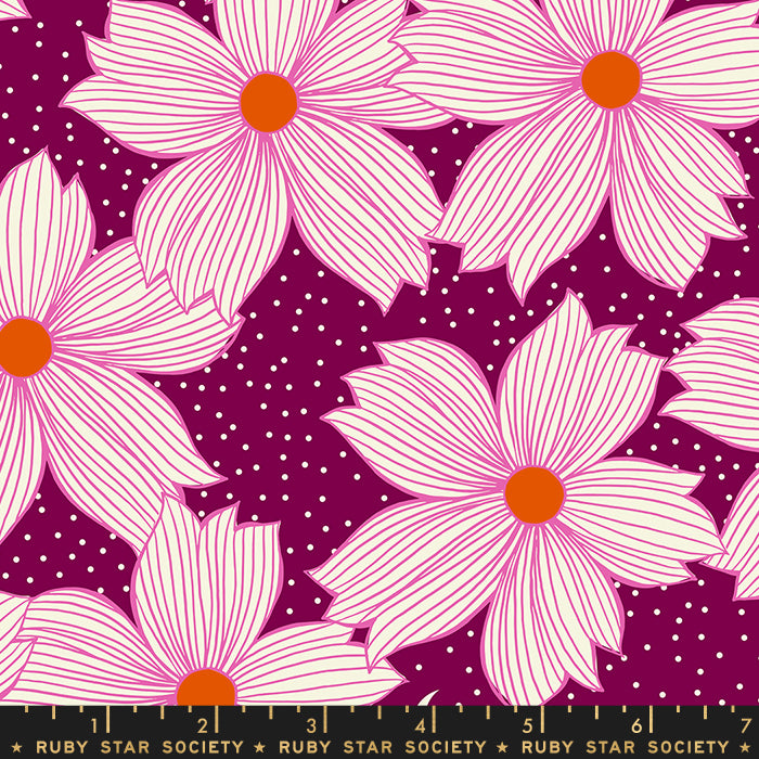 Moda Ruby Star Society Sarah Watts Crescent Floral Night Bloom Purple Velvet