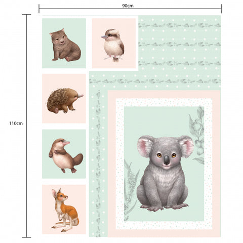 {New Arrival} Devonstone Little Aussie Friends Multi Panel 90cm