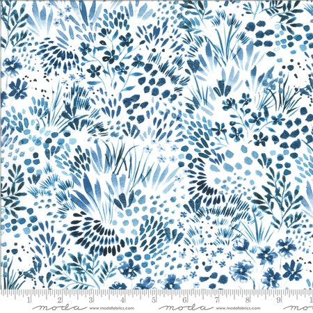 {New Arrival} Moda Moody Bloom Meadow Digital Indigo Multi