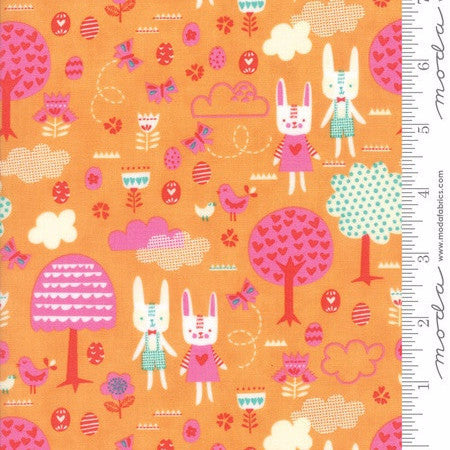 Moda Spring Bunny Fun Main in Apricot