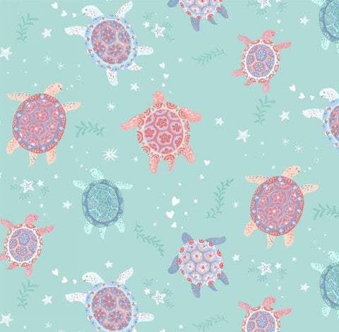 Studio E Designs Mermaid Dreams Turtles Aqua