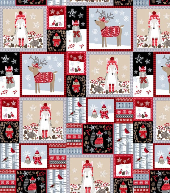 Studio E Designs Snow Delightful Patchwork Animals
