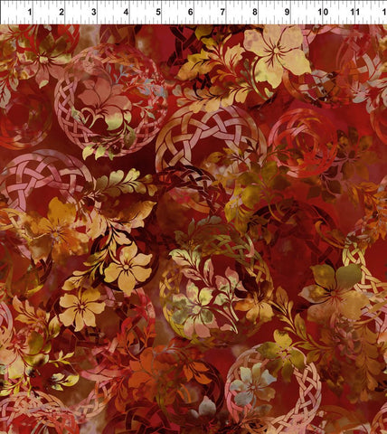 {New Arrival} In The Beginning Fabrics Diaphanous Celtic Garden Spice