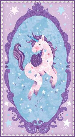 Studio E Unicorn Kisses Lilac Unicorn Panel