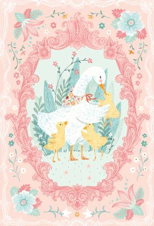 Studio E Ducky Tales Pink Ducky Panel 30in