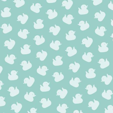 Studio E Ducky Tales Light Jade Monotone Ducks