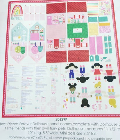Moda Stacy Iest Hsu Best Friends Dollhouse Panel Multi X-Large Panel