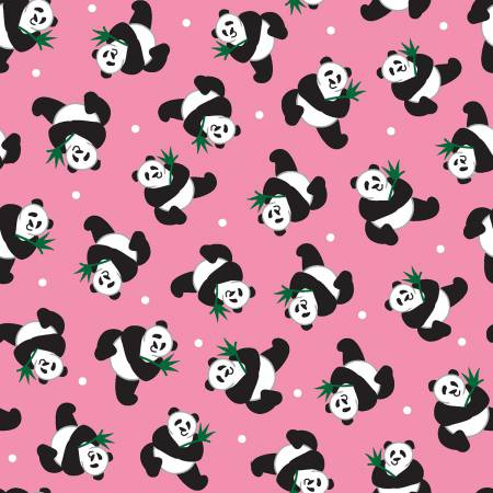 Studio E Little Explorers Pink Pandas Tossed
