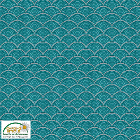 {New Arrival} Stof It's A Snowflake Turquoise Scallop Metallic