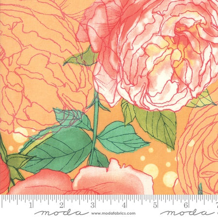 Moda Abby Rose Main Floral Early Citrus