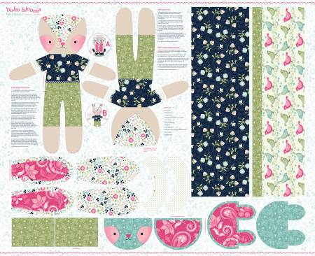 {New Arrival} Studio E Designs Blooms Bunny Panel