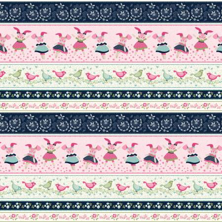 {Pre-Order Jan/Feb} Studio E Designs Blooms Bunny Stripes