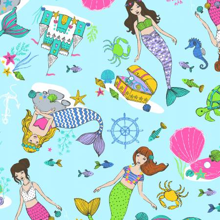 Windham One of a Kind Multi Mermaid Digitally Printed