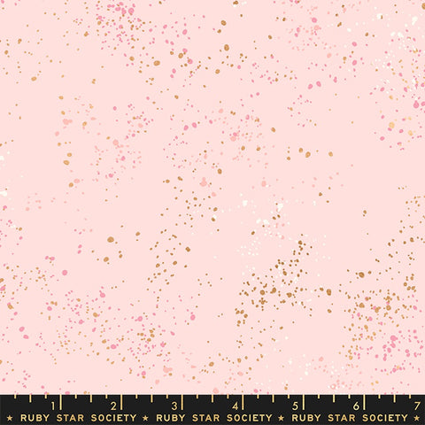 {New Arrival} Moda Ruby Star Society Speckled Pale Pink Metallic