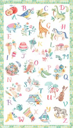 Windham My Imagination Alphabet Panel Multi