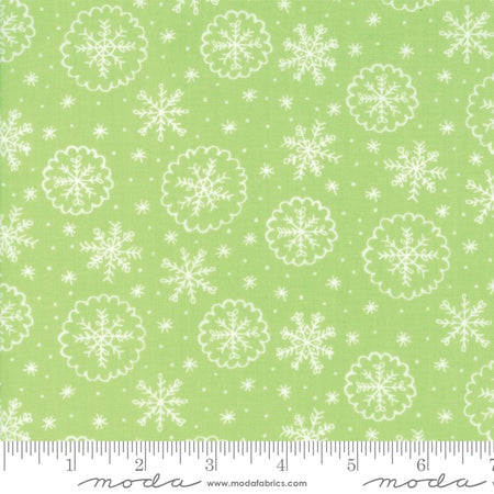 Moda Stacy Iest Hsu Snow Day Let It Snow Snowflake Sprig Green