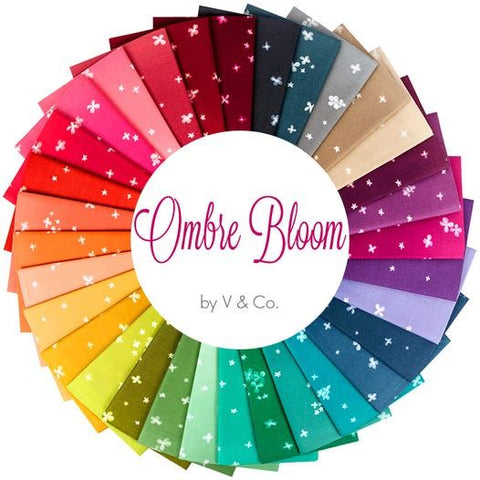 {New Arrival} Moda V & Co Ombre Bloom Fat Quarter Bundle x 32 FQ Full Set Manufacturers Cut