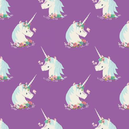Camelot I Believe In Unicorns Orchid Unicorns