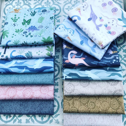 Lewis & Irene Kimmeridge Bay Fat Quarter Bundle x 13 Pieces