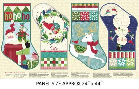 {New Arrival} Benartex Better Not Pout He's Making a List Panel Multi