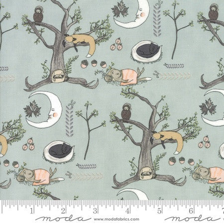 Moda Hushabye Hollow Woodland Scene Breeze