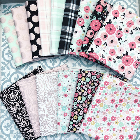 Riley Blake Glam Girl Fat Quarter Bundles x 15 Pieces