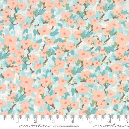 Moda Kate & Birdie Lullaby Cotton Lullaby Bloom Peach Cloud